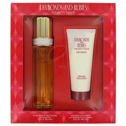 DIAMONDS & RUBIES - Gift Set -- 3.3 oz Eau De Toilette Spray + 3.3 oz Body Lotion
